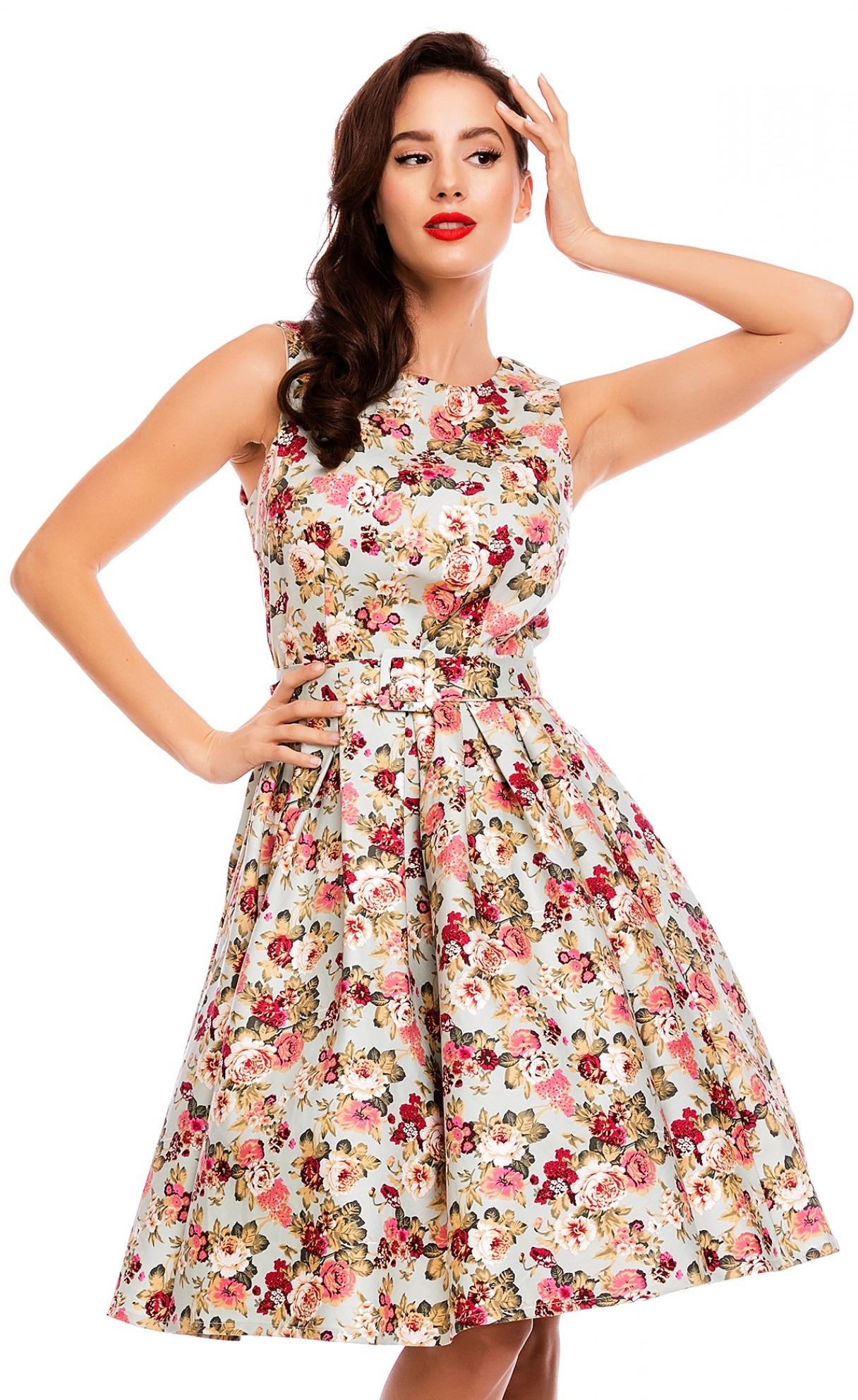 Retro šaty kvetinové Rose 3816156676d