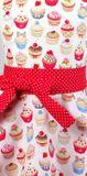 Dievčenská kuchynská zástera Cupcake dots