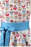Luxusná kuchynská zástera Cupcake blue dots