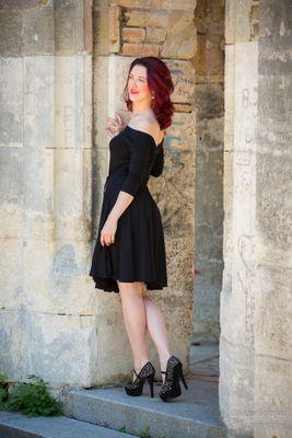 Čierne bambusové šaty Lovely
