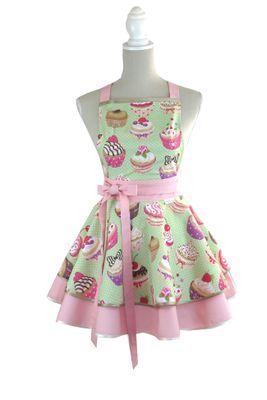 Luxusná kuchynská zástera Cupcake Lovely