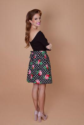 Luxusná zavinovacia sukňa Retro Black Lucy