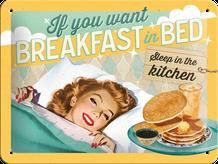 Retro cedula Breakfast in Bed