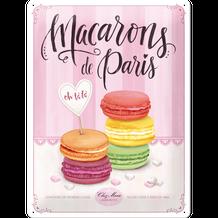 Retro cedula Macarons de Paris 30x40