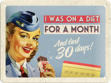 Retro cedula On A Diet For A Month