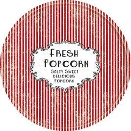 Retro tácka na Popcorn