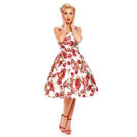 Retro šaty biele kvetinové Tulip