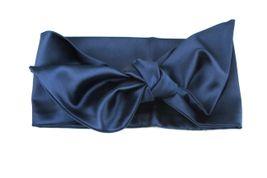 Saténová čelenka modrá