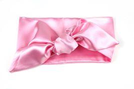 Saténová čelenka baby ružová