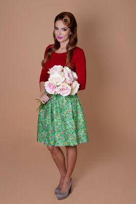 Zavinovacia sukňa Strawberry