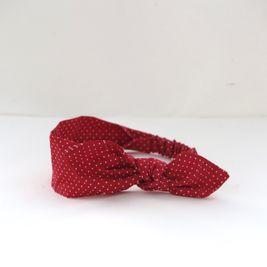 Čelenka bodkovaná červená Pretty red dámska