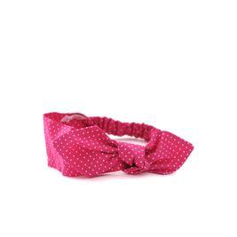 Čelenka ružová bodkovaná s mašľou Pretty pink dámska