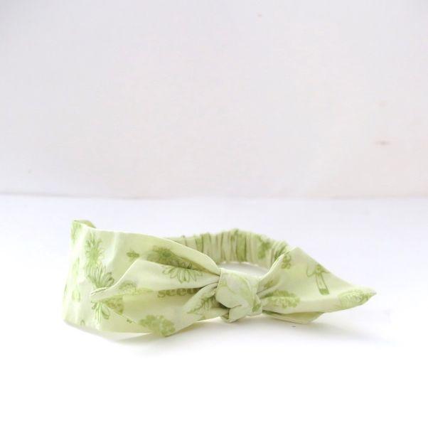 Módna čelenka s mašľou Butterfly green dámska