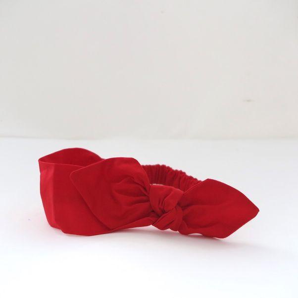 Čelenka s mašľou červená Carmen dámska