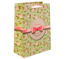 Darčeková taška s mašlou zelená