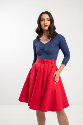 Kruhová červená sukňa Lovely