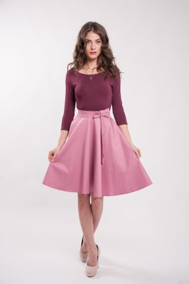 Kruhová staroružová sukňa Lovely