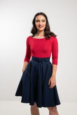 Kruhová tmavo modrá sukňa Lovely