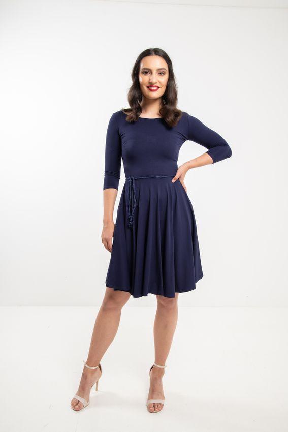 Modré bambusové šaty Jasmína