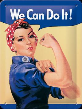 Retro cedula We Can Do It!