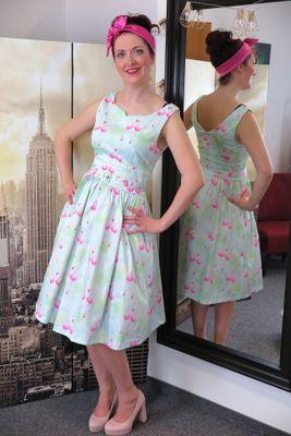 Retro šaty Flamingo Delta veľ. M
