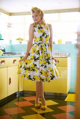 Retro šaty Lemon