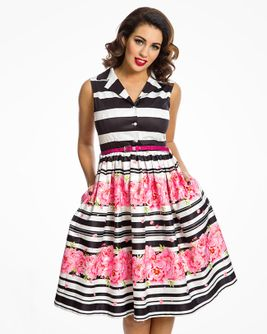 Retro šaty pásikavé Matilda ... 9c4e1bc5cd