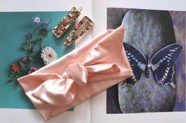 Saténová čelenka ružová