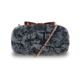 Zamatová spoločenská kabelka Chic gray